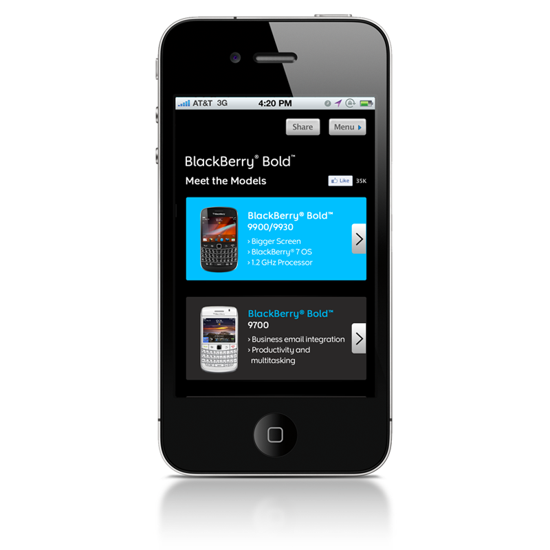 BlackBerry/RIM Mobile Site